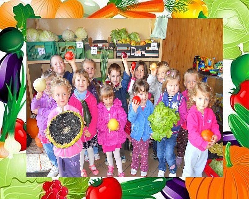 Maluszki w warzywniaku
