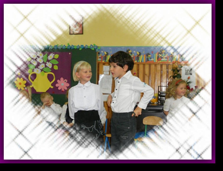 Poranek z okazji Dnia Nauczyciela - występ ,,Starszaków